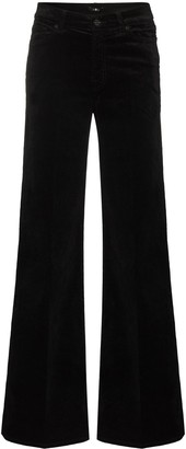 7 For All Mankind Mid-Waist Flared Trousers