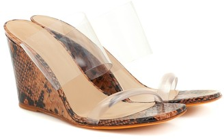 Maryam Nassir Zadeh Olympia leather and PVC sandals
