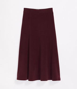 LOFT Lou & Grey Brushknit Midi Skirt