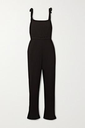 Base Range Net Sustain Cepha Ribbed Organic Cotton-jersey Jumpsuit - Black