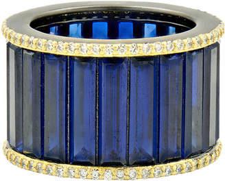 Freida Rothman Baguette Cigar Band Ring, Size 6