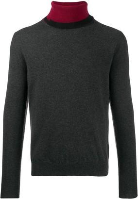 Maison Margiela Contrast Collar Cashmere Blend Jumper