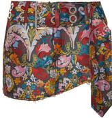 Marques Almeida Marques' Almeida - Frayed Floral-jacquard Mini Skirt - Red