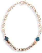 Akola Bone & Druzy Chain Necklace