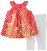 Kids Headquarters 2-Pc. Polka Dot Tunic & Capri Pants Set, Little Girls (2-6X)