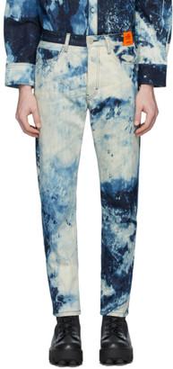 S.R. STUDIO. LA. CA. Indigo SOTO Hand-Bleached Denim C Jeans