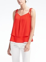 Banana Republic Easy Care Shoulder-Tie Top