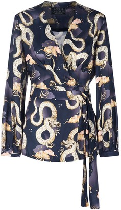 Louise Coleman Magic Dragon Wrap Top