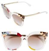 Fendi Women's 53Mm Retro Sunglasses - Azure/ Crystal