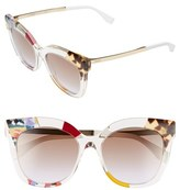 Fendi Women's 53Mm Retro Sunglasses - Honey/ Crystal
