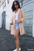 Forever 21 Double-Breasted Longline Blazer