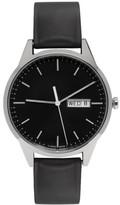 Uniform Wares Silver and Black Rubber C40 Calendar Watch