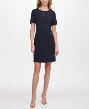 Tommy Hilfiger Petite Keyhole Shift Dress