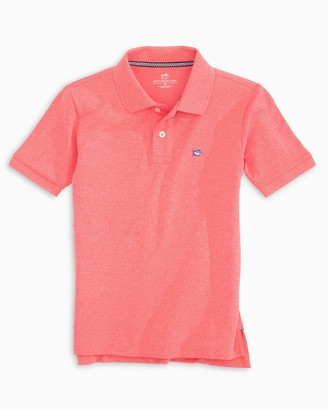Southern Tide Boys Jack Heathered Performance Pique Polo Shirt