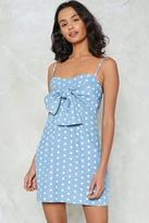 Nasty Gal Like It or Knot Polka Dot Dress