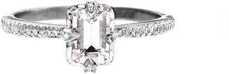 Cathy Waterman Morganite Solitaire Platinum Ring