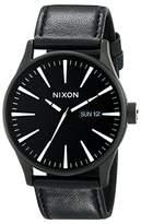 Nixon Men's A105 42mm Sentry Leather Watch