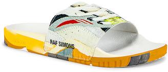 Adidas By Raf Simons Torsion Adilette Slides in White & Multi | FWRD