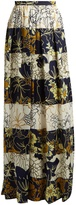 Roksanda Myla striped floral-print silk maxi-skirt