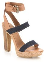 See by Chloe Edith Denim & Leather Sandals
