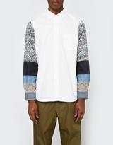 Junya Watanabe Cotton Jacquard x Multi Fabrics Button Up