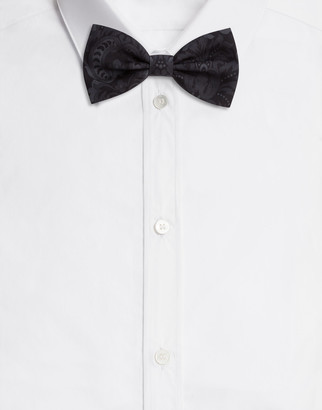 Dolce & Gabbana Bow Tie In Baroque Print Silk