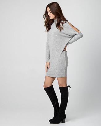 Le Château Cut & Sew Knit Mock Neck Sweater Dress