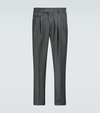 Lardini Double-pleated wool-blend pants