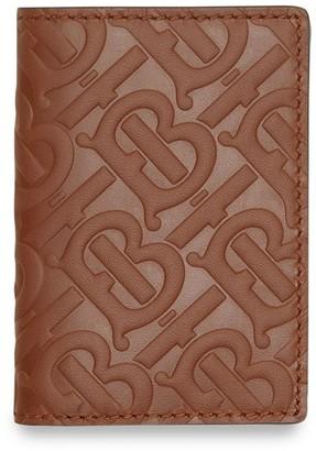 Burberry Monogram Leather Bifold Card Case