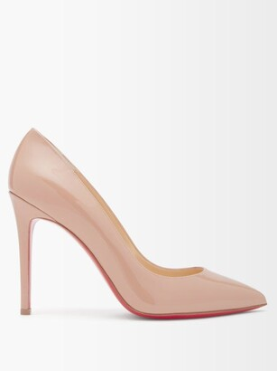Christian Louboutin Pigalle 100 Patent Leather Pumps - Nude