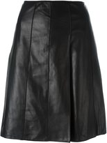 Black A-line Leather Skirt - ShopStyle
