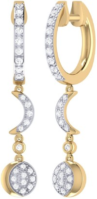Lmj Moonlit Phases Hoop Earrings In 14 Kt Yellow Gold Vermeil On Sterling Silver