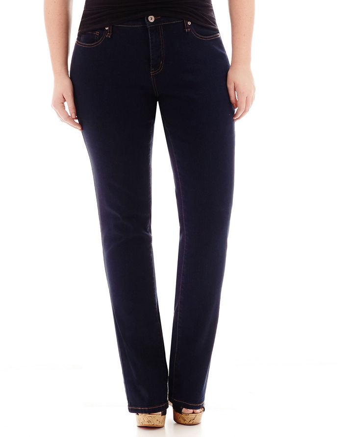 JCPenney STYLUS Stylus Slim Straight-Leg Jeans - Plus
