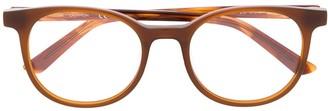 Calvin Klein Round-Frame Logo Glasses