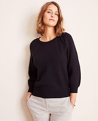 Ann Taylor Puff Sleeve Sweater