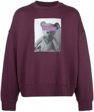 Palm Angels Teddy Bear Print Sweatshirt