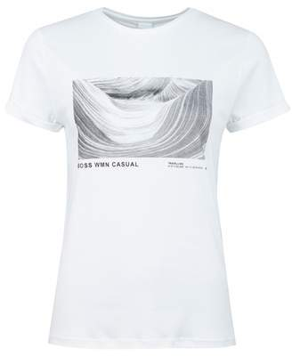 BOSS Tepic Graphic T-shirt Colour: WHITE, Size: SMALL