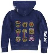 Butter Shoes Girls' Embellished Emoji Fleece Hoodie - Big Kid
