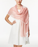 INC International Concepts Asymmetrical Lace Wrap & Scarf in One, Created for Macy's