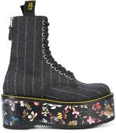 R 13 floral flatform boots