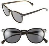 Oliver Peoples Women's 'Finley' 51Mm Polarized Sunglasses - Black/ Graphite Polar