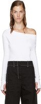 Jacquemus White Single-Shoulder T-Shirt