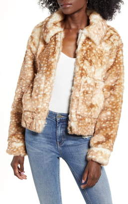 4SI3NNA the Label 43SI3NNA Faux Fur Jacket
