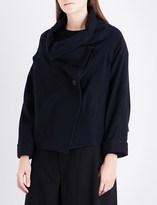 Y's Ys Asymmetric-collar wool jacket