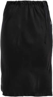 Ann Demeulemeester Paneled Satin And Georgette Skirt