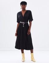 Maison Scotch Silky Midi Wrap Dress
