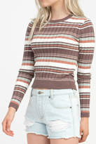 RVCA Striped Raisin Sweater