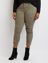 Charlotte Russe Plus Size Cello Cropped Skinny Jeans