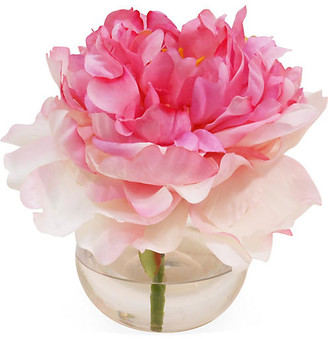 """7"""" Peony in Bubble Vase - Blush - The French Bee"""