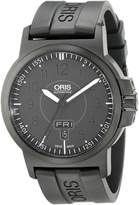 Oris Men's 73576414764RS BC3 Sportsman Day Date DLC Case and Rubber Strap Watch